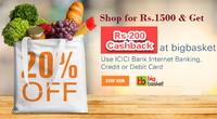 BigBasket Offer - Get Rs. 200 Cashback