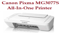 Canon Pixma MG3077S All-In-One Printer