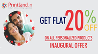 Get Printland Deal To Get 20% Off on Personalized Gifts