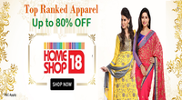 Homeshop18 Offer on Top Ranked Apparel-
