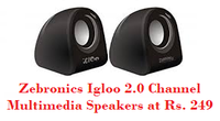 Zebronics Igloo 2.0 Channel Multimedia Speakers