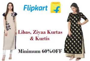 49be59504f2 Flipkart Libas, Ziyaa Kurtas & Kurtis Offer- Minimum 60% off