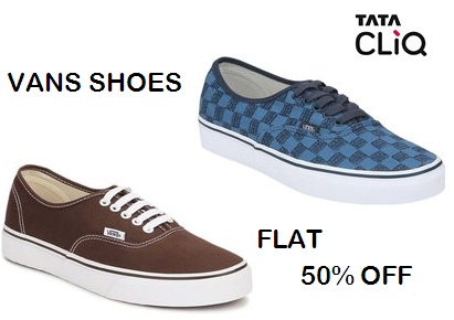 1c8fabfd89a TataCliq is offering a new collection of Vans Shoes with 50% discount. Use  this offer to buy online Vans shoes. Vans is a highly popular brand in  India.