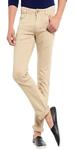 Beige Cotton Jeans