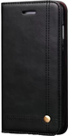 Black Leather Flip Cover for iPhone 6