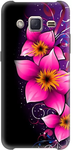 Black and Pink Printed Back Cover For Samsung J2