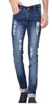 Blue Denim Ripped Jeans