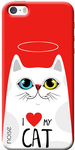 Cat Lover Back Cover For iPhone 5