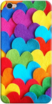 Colorful Heart Print Back Cover for Vivo Y55L