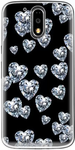 Crystal Heart Print Back Cover For Moto G4 Plus