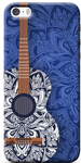 Floral Guitar Printed Back Cover For iPhone 5