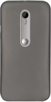Grey Rubber Back Cover For Moto G3
