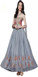 Latest Arrival Grey Anarkali Suit