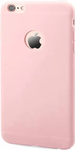 Light Pink Rubber Back Cover For iPhone 6s