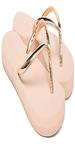 Metallic V-Strap Flip Flops