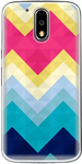 Multicolor Silicon Back Cover For Moto G4 Plus