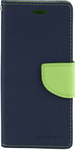 Navy Blue Flip Cover for Lenovo A6000