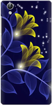 Night Blue Print Back Cover for Vivo Y51L