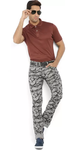 Printed Grey Trousers