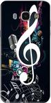 Samsung J7 Black Printed Back Cover