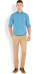 Slim Fit Men's Beige Trousers