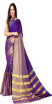 Striped Chanderi Poly Silk Saree