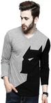 V Neck Grey T-shirt