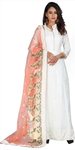 White Anarkali Dress