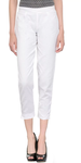 White Cotton Women's Capri