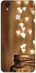 White Heart Print Back Cover for Vivo V3
