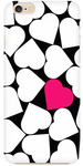 White Heart Printed Back Cover For iPhone 6s