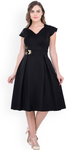 Women's Fit and Flare Black Dress