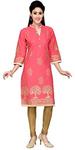 gold pink casual kurti