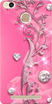 Beautiful Pink Designer Back Cover for Redmi 3s Prime