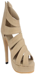 Beige Closed High Heels