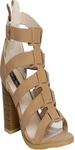 Beige Gladiator Sandals