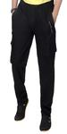 Black Cotton Track Pant