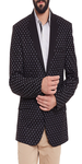 Black Dotted Print Casual Blazer