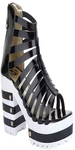 Black Leather Gladiators Sandals