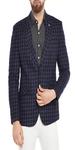 Blue Checkered Casual Blazer