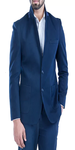 Blue Cotton Casual Blazer for men