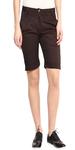 Brown Cotton Shorts