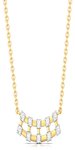 Checkered Bling Diamond Necklace