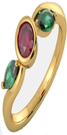 Flaura Ruby and Emerald Ring