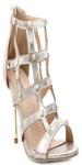 Gold Faux Leather Gladiators Sandals