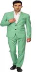 Green Solid Men's Suit