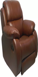Leatherete Brown Recliners