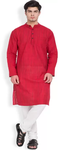 Men's Straight Red Kurta