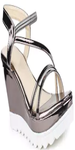 Metallic Back Strap Wedges