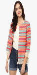 Multicolor Embroidered Shrug
